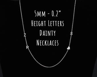 Dainty Initial Necklace, Sideways Initial Necklace, Personalized Necklace, Dainty Necklace, Gifts for Her, Christmas Gift, Maya Necklace