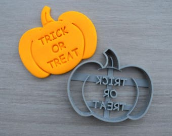 Pumpkin Trick or Treat Halloween Cookie Cutter Fondant Cutter