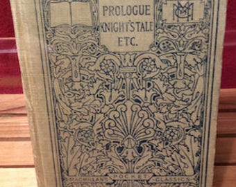 Vintage 1914 Chaucer The Prologue to the Book of the Tales of Canterbury