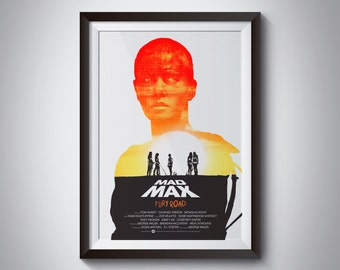 "Mad Max Fury Road Furiosa poster silkscreen print - 13x19"" - Limited Edition / Signed / Numbered"