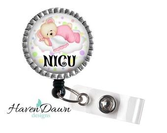 NICU ID Badge Holder, Medical Badge Reel