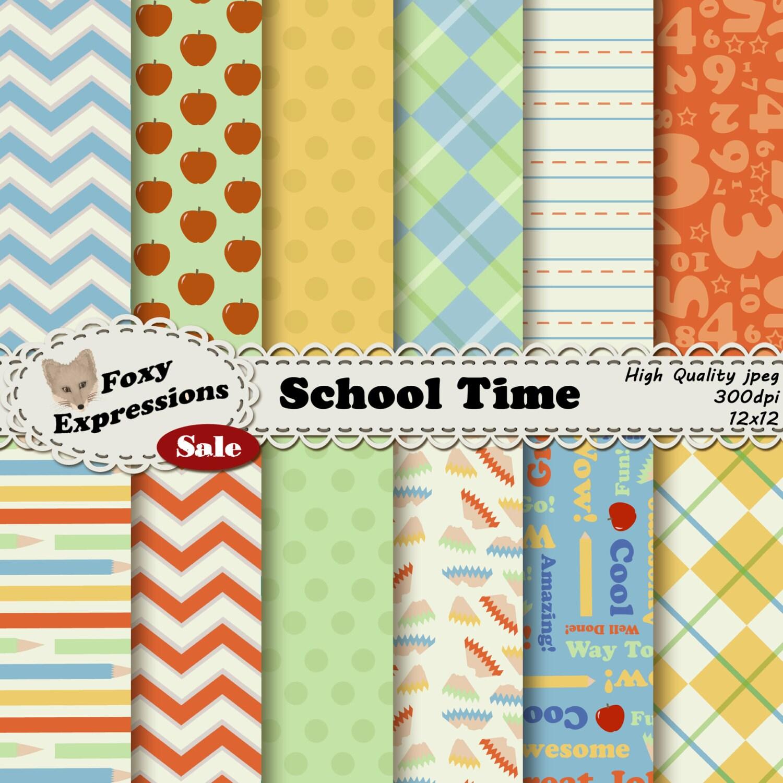 School Time Digital Paper comes in fun pencil shaving polka dots ...