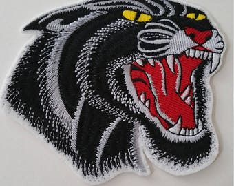 2 SIZES Black panther iron on or sew on patchBlack panther iron on or sew on patchPanther iron on patch Panther patch Panther applique
