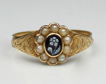 Antique Victorian Gold Forget Me Knot Ring