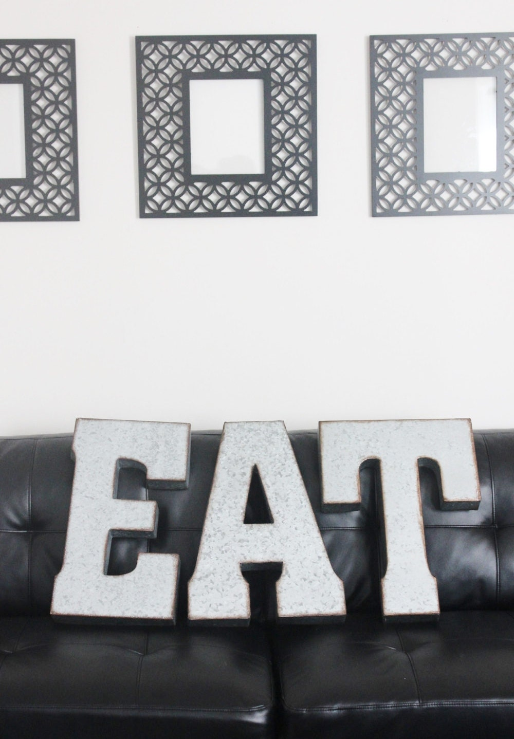 Large Black Metal Letters Inspiration Sale Eat Metal Letters Large Zinc Steel Initial Home Room Inspiration Design