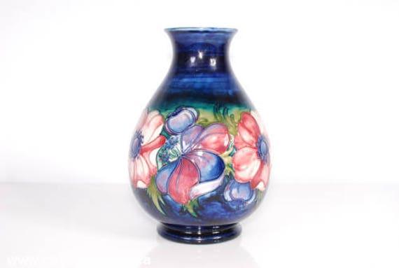Vintage Moorcroft Vase Cobalt Blue