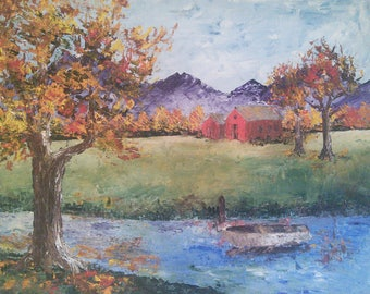 Tennessee Impressionist Landscape Painting Oil on Canvas