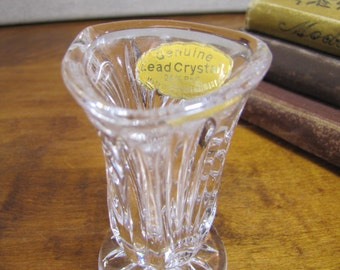 Genuine Lead Crystal Toothpick Holder - Small Vase - Made in Western Germany