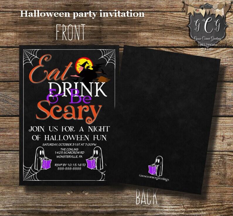 Printable Halloween Party Invitation Halloween