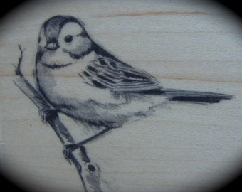 Gorgeous Bird Wood Mounted Rubber Stamp