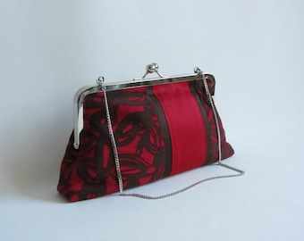 Sale Red Abstract Clutch