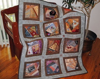 Contemporary crazy quilt