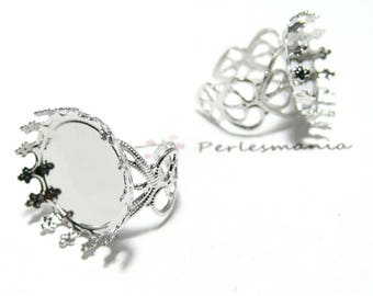 Primer 10 rings heart 20mm PP claw ring