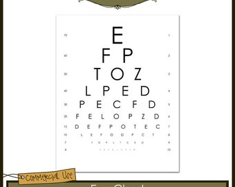 Eye Chart Commercial Use Layered Template - Instant Download