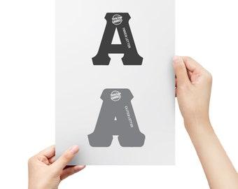 Greek Letter Stencils