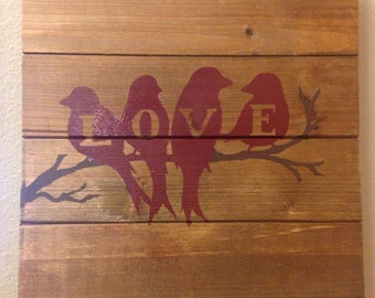 Love Bird Sign