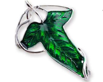 1 x Elven leaf CHOOSE pendant with brooch backing OR necklace