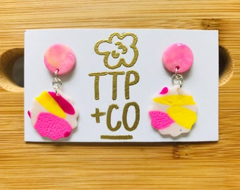 Kensington Dangle Polymer Earrings Pretty in Pinks