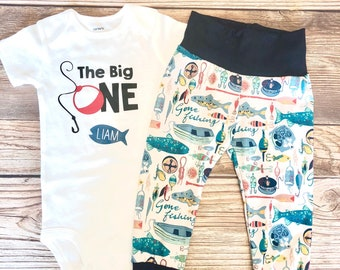 The Big ONE Fisherman Theme birthday outfit, Fishing, Fisherman, Fish theme, first birthday outfit, 1st birthday outfit, birthday outfit