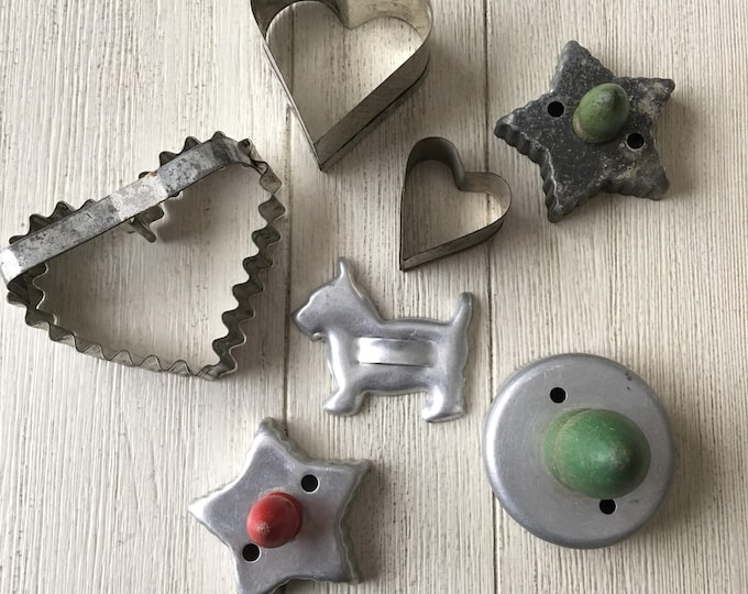 Vintage Cookie Cutter Collection Doughnut Biscuit Aluminum