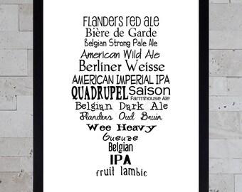 Printable Beer Art - Tulip Styles