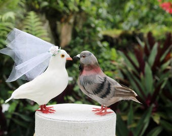 Vente! Colombe & Pigeon Cake Topper: Love Bird Wedding Cake Topper