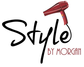 Hairstylist Logo - Blow Dryer Logo - Branding Design - Digital Logo - Watermark - Stylist Logo - Hairdresser - Salon Logo - JPG PNG