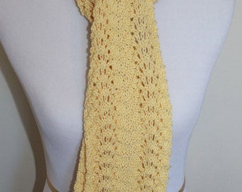 Womens knit lace scarf