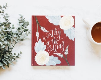 Hand Painted Bible // Worthy of the Calling Theme