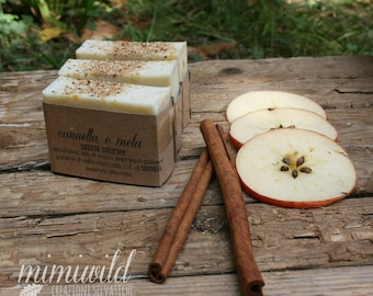 Apple and cinnamon-natural soap-handmade soap-vegan soap-olive oil soap-Natural essences-crueltyfree-Handmade