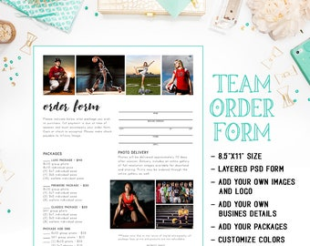 sports photography order form templates