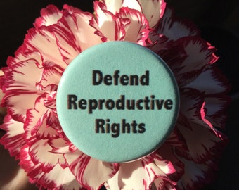 Pro-choice button Defend reproductive rights / 1.25 inch button or magnet