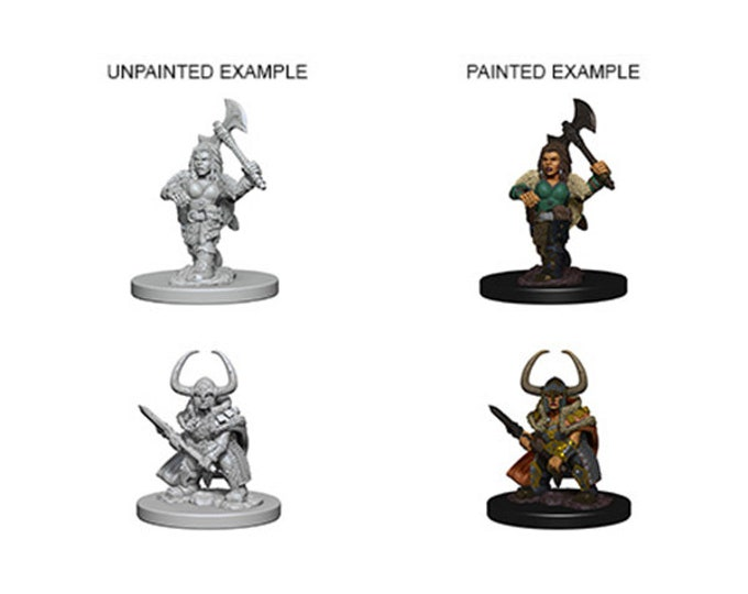 D&D Minis: Wave 4 - Dwarf Female Barbarian - 72645 - WizKids