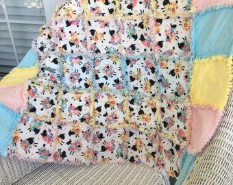 Lamb flannel rag blanket