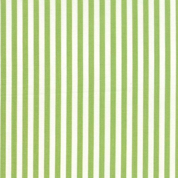 Corey Yoder Little Miss Shabby Green Prairie Stripe Quilt Fabric. 29006-27