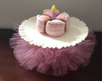 Cake Plate Tutus- Cake Decorations- Cake Plate Skirt- Birthday Party- Cake Stand : decorative cake plates - pezcame.com