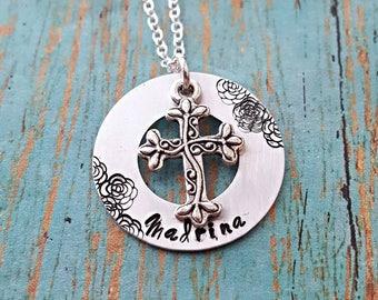 Madrina Necklace - Madrina - Gift for a Madrina - Madrina Gift - Godmother - Godmother Necklace - Religious - Baptism - Christening -Nina