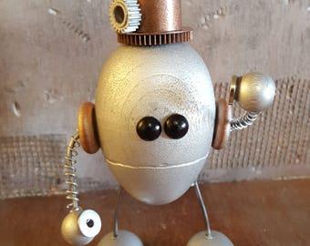 P.R.C.Y. wooden steampunk robot