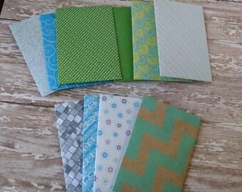 10 gift card size envelopes