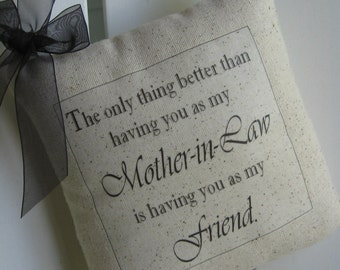 Mother-In-Law Gift, Wedding Gift, Mother In Law, Personalized Gifts, Door Pillow, Pillow, Mother Of The Groom, Husbands Parent, Grandma