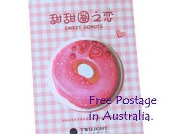 Sweet Donuts 'PINK' Post-It Sticky Notes