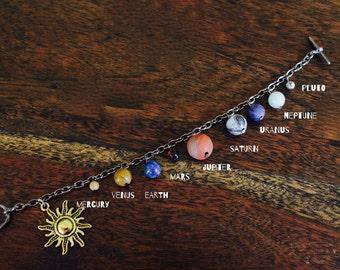 Solar System Bracelet Gem Stone