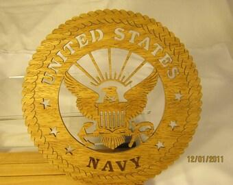US Navy Scroll Saw Plaque  Hobbyist: HOB-NTLPO-WOODWO01