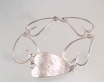 Heart Links Sterling Bracelet