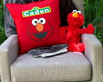 Personalized Elmo Pillow. High Quality filled with Duck Feather's.
