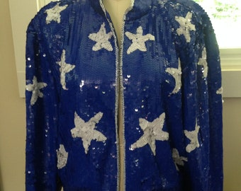Lew Magram 1980's Sequin Jacket