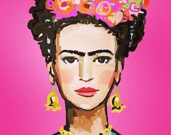 Frida Kahlo Print, roses, 8 x 10, 11x14