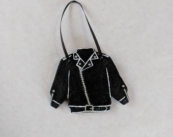 Black Leather Jacket Ornament