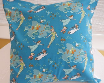 cushion, handmade in Peter Pan and Wendy fabric