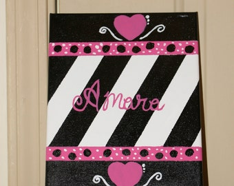 8x10 Canvas Wall Art-custom colors and name